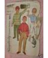 4017 Vintage Simplicity SEWING Pattern Boys Shirt Pants Sz 12 - $4.83