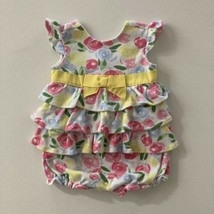 Gymboree Baby Girl 3-6 Months Floral Ruffle Bubble Romper - $16.00