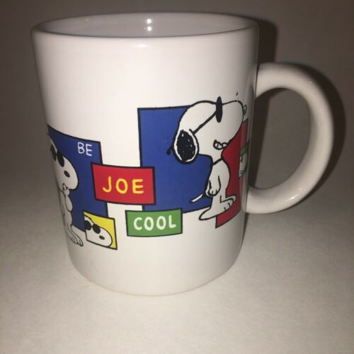 Primary image for Vintage Snoopy Peanuts Be Joe Cool Coffee Mug Cup Dog Collectable Retired
