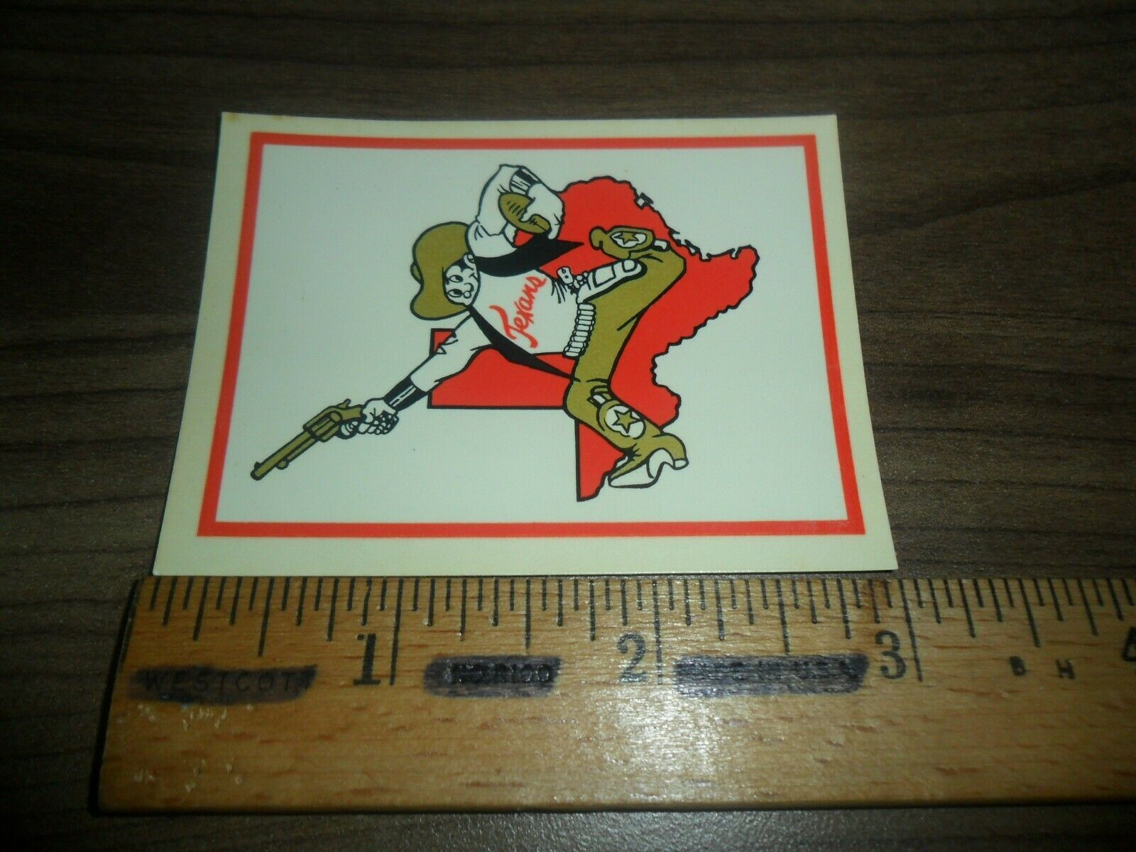 1960 Fleer Football ~ Dallas Texans ~ Water Decal by Palm Brothers