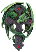 9.06 Inch Woodland Guardian Dragon Wall Plaque Statue Figurine - $45.59