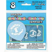 "12"" Latex Blue Happy 1st Birthday Balloons, 8ct - $8.81"