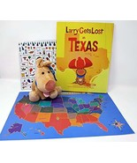 Larry Gets Lost in Texas by John Skewes Book with Larry Plush Dog and Ge... - $34.99