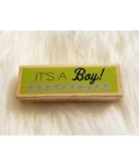 It's a Boy! Wood Mounted Rubber Stamp by Studio G 2011 Hampton Art NEW - $3.29