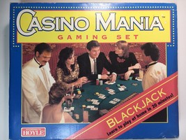 Blackjack Gaming Set Hoyle Casino Mania, Poker Chips, Official Playing C... - $23.17