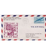 FIRST FLIGHT NEW YORK, NY - PRAGUE FAM 18 FIRST CLIPPER PAN AMERICAN - $5.39