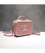 NEW AUTH CHANEL 2019 PINK CAVIAR FILIGREE CC SMALL VANITY CASE BAG RARE - $4,599.00