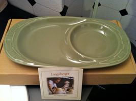 Longaberger Woven Traditions Pottery Soup and Sandwich Plate - SAGE!- NIB! - $33.38