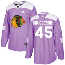 NHL Luc Snuggerud Men's Chicago Blackhawks Fights Cancer Practice Jersey... - $1.285,23 MXN