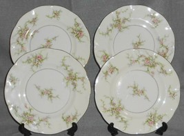 Set (4) Theodore Haviland ROSALINDE PATTERN Salad Plates NEW YORK - $59.39