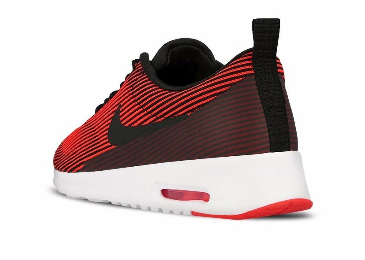 NIKE WOMEN'S AIR MAX THEA KJCRD SHOES black bright crimson white 718646 007