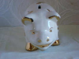 LePere Pottery White Standing Pig - $30.00