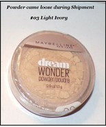 Maybelline Dream Wonder Face Powder #03 Ivory (Powder came loose during ... - $0.99