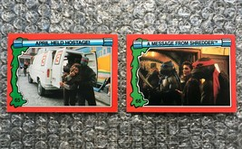 1991 Topps Teenage Mutant Ninja Turtles TMNT II Movie Cards Lot: #65 & #66 - $3.92
