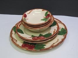 7 Pieces of Franciscan Apple Plates and Bowls - $33.66