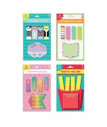 Assorted 4 Pack Set of Stick On Flags & Sticky Notes Stationary Desk... - $8.79