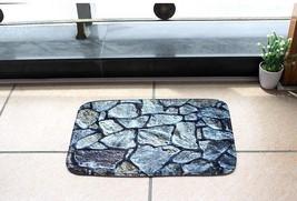 New Bath Mat Bathroom Door Water Absorbent Floormats Foot Rug Anti Skid ... - $12.76