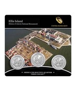 2017 P D & Proof S US Mint America The Beautiful Ellis Island Sealed 3 C... - $21.95