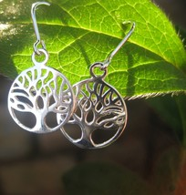 Powerful Tree of Life dangle Earrings Cast with 10 Ancient spells - $33.33