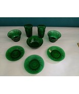 Vintage Anchor Hocking Forest Emerald Green Depression Glass Mixed Lot - $39.55