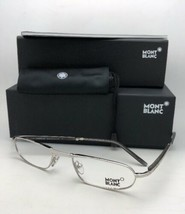 New Folding MONTBLANC Eyeglasses Readers MB 198 F80  Silver & Smoke Grey Frames