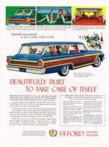 Vintage 1961 Magazine Ad Ford Wagon Beautifully Built To Take Care Of Itself - $5.93