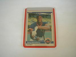 1984 FLEER DARRYL STRAWBERRY ROOKIE CARD #599 NEW YORK METS RC - $9.89