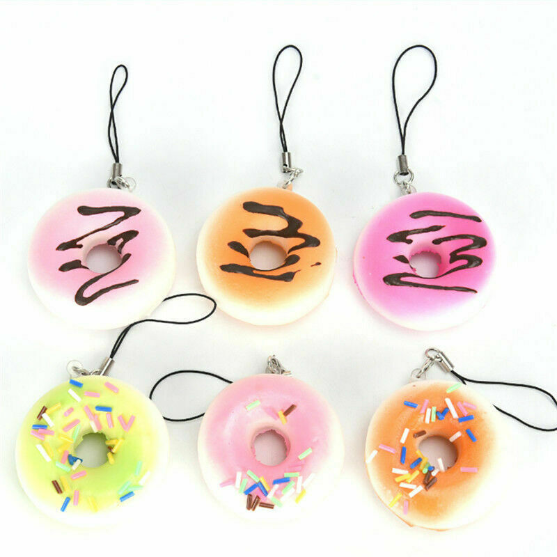 Primary image for Donut Fruit Bread Keychain Bag Charm Strap 4.5cm US Seller Free Shipping