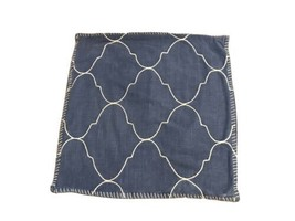 """Pottery Barn Blue Jean Denim Look Square Pillow Cover 22"""" X 22"""" - $28.61"""