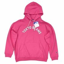 New Champion x Tokyo Beams Reverse Weave Long Sleeve Hoodie Pink White - $69.99