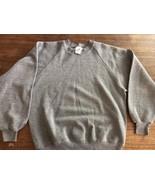 Jerzees Tri-Blend Sweatshirt gray poly/cotton/rayon sz L USA made VTG MINT - $30.39