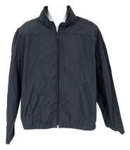 J Crew Men's Navy Nyon Windbreaker Jacket Coat Zip Front Xl B9083 - $73.59