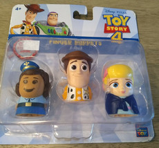 Disney Pixar Toy Story4 Finger Puppets 3 Pack : Giggle McDimples, Woody,... - $6.60