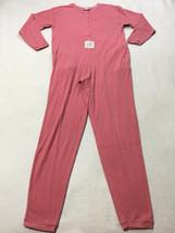 Victoria's Secret Vtg Gold Label M Pink Pointelle Rose One Piece Pajamas FLAW - $24.99