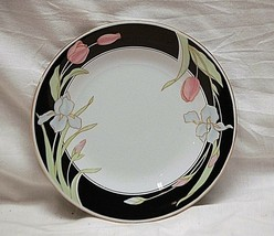 "Classic Vanessa Fine China by Fairfield 7-3/8"" Salad Plate Black Border ... - $14.84"