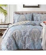 Duvet Covers Sets Cotton Queen Luxury Paisley Damask Medallion -1000TC E... - $57.58
