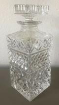 "Vintage Cut Art Glass Crystal Whiskey Brandy Decanter 8.75"" x 3.25"" Cara... - $79.50"