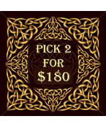 MON-TUES PICK 2 FOR $180 INCLUDES NO DEALS & MYSTICAL TREASURES - $0.00