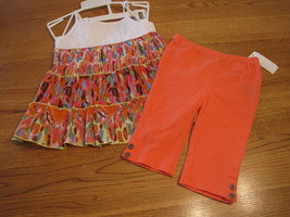 Calvin Klein baby girls 2 PC shirt pants 12M 12 Months 3602208 NWT outfi... - $19.05