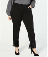I.N.C. Plus Size Rhinestone-Fringe Skinny Jeans,BLACK SIZE 18W MSRP$139.00 - $19.80