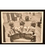 RUTH ORKIN Photograph 3 Boys on Suitcase 1947 9x12 Lithograph Portfolio ... - $23.19