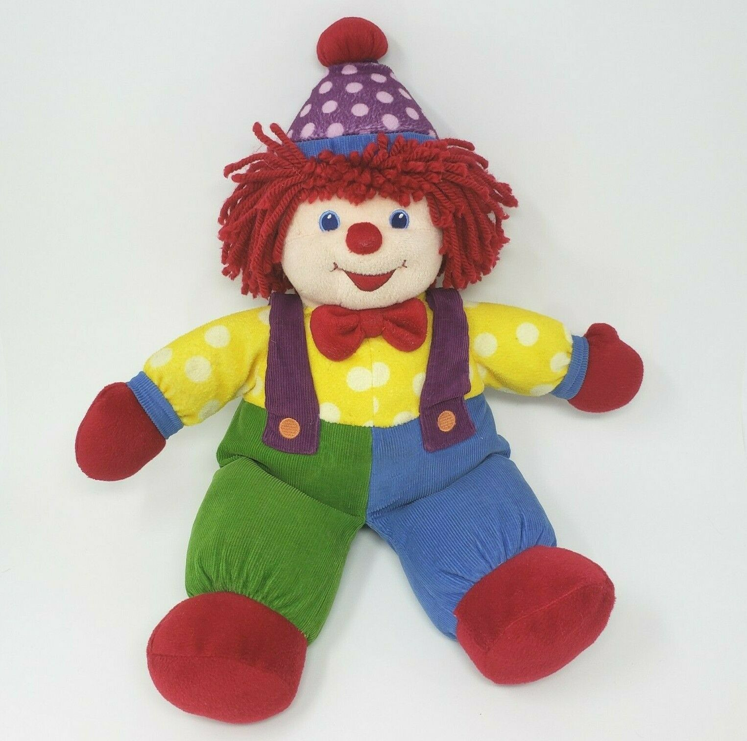 "Primary image for 18"" BIG GYMBOREE GYMBO THE BABY CLOWN DOLL STUFFED ANIMAL PLUSH TOY RED & BLUE"