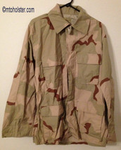 Desert camouflage shirt Med Short Camo DCU Jacket military - $11.99