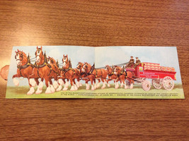 Vintage Budweiser Anheuser Busch Horse Drawn Wagon Post Card 3 cent postage - $15.00