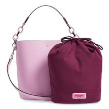 Kate Spade Suzy Smooth Leather Small Bucket Crossbody Bag Sweet Pea (Lil... - $108.89
