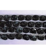 25 12 x 9 mm Czech Glass Twisted Flat Oval Beads: Jet - Picasso - $3.83