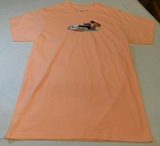 Neff Mens M medium Short Sleeve T Shirt peach Stand Up Jet Ski NWOT - $21.37