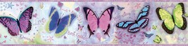 Kingston Purple Bff Butterflies Toss Wallpaper Border Chesapeake BBC94062B - $24.74