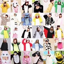Hot Unisex Adult Pajamas Kigurumi Cosplay Costume Animal Sleepwear Suit - $31.99