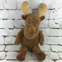 Moose Plush Brown Floppy Stuffed Forest Animal Super Soft Comfort Toy  - $11.88